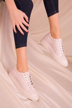 Soho Exclusive Bej Rugan Kadın Sneaker 15734 2