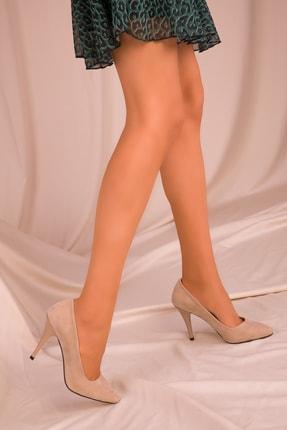 Soho Exclusive Ten Süet Kadın Klasik Topuklu Ayakkabı 15731 0