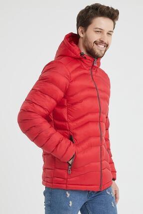 Danger Erkek Kırmızı Kapüşonlu Şişme Mont 3