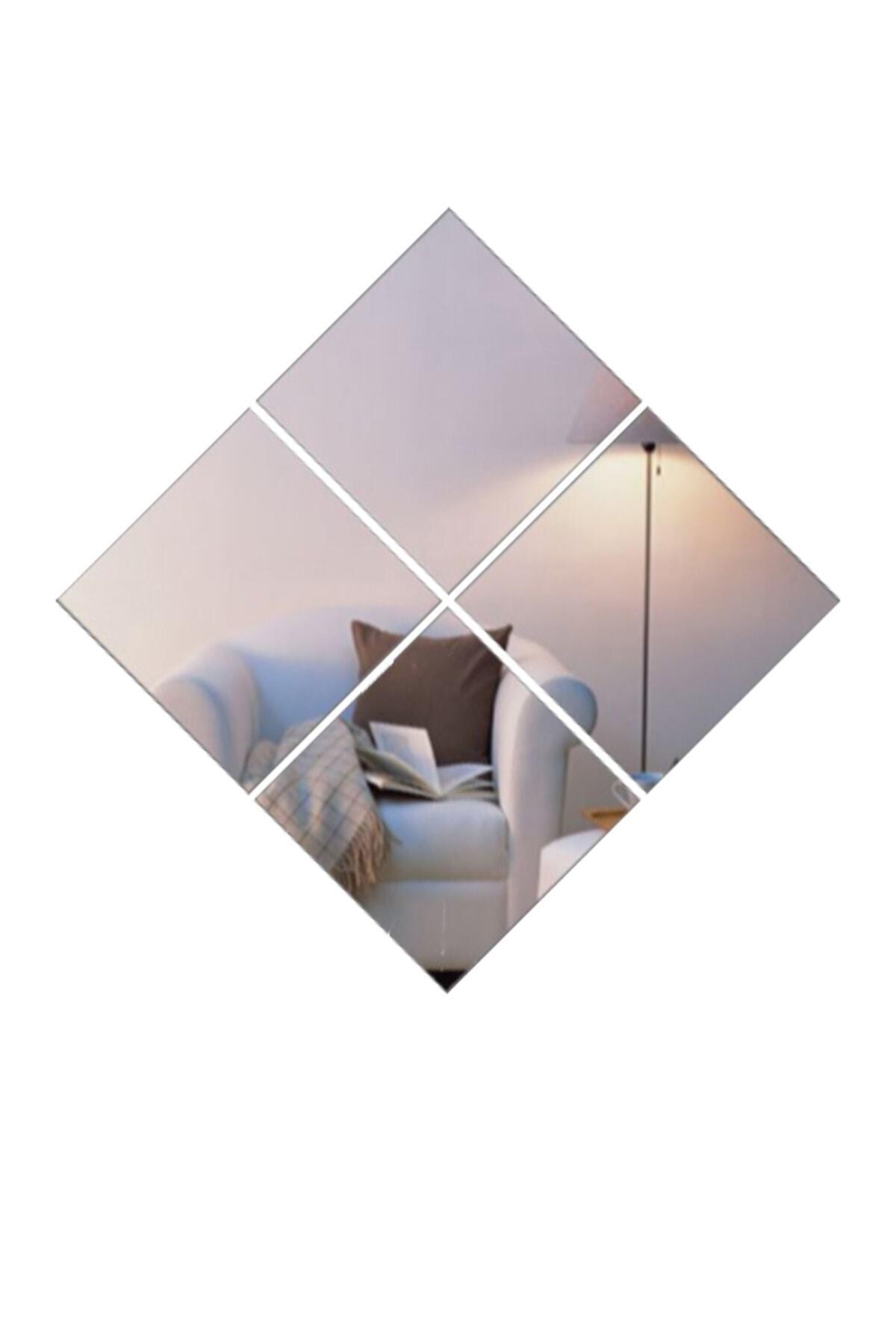 Home 4'lü Dekoratif Ayna (20x20)