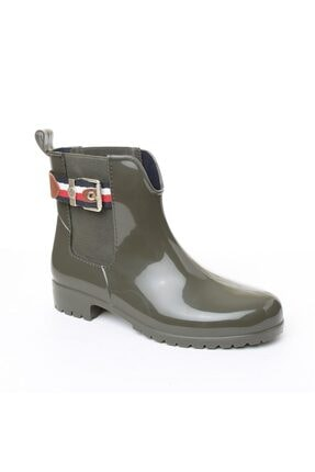 Tommy Hilfiger Kadın Yağmur Botu - Yeşil 2