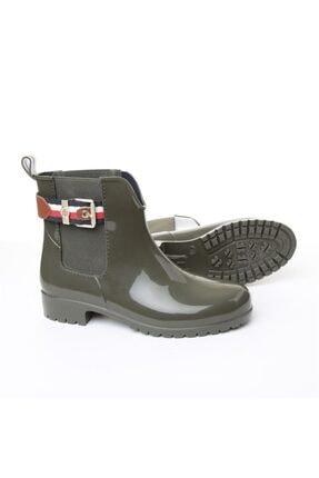 Tommy Hilfiger Kadın Yağmur Botu - Yeşil 3