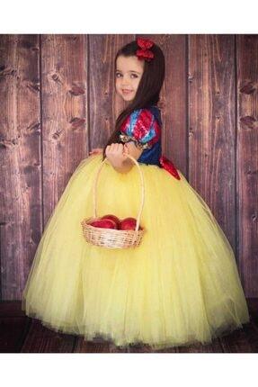 Patiska Nostalji Kız Çocuk Sarı Pamuk Prenses Elbisesi 3