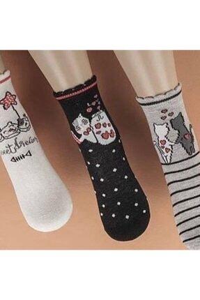 Katamino Kız 3'lü Soket Çorap 0