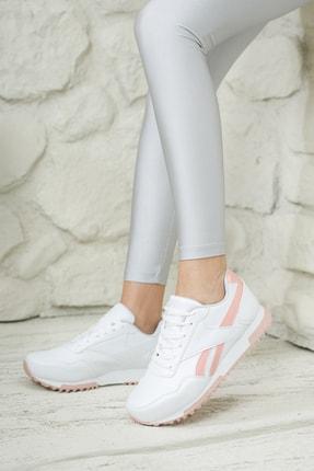Moda Değirmeni Unisex Beyaz Pudra Sneaker Ayakkabı Md1053-101-0001 1