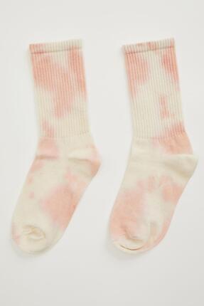 Defacto Batik Desen Soket Çorap 0
