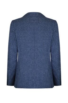 W Collection Erkek Petrol Mavi Jakarlı Ceket 1