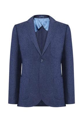 W Collection Erkek Mavi Flanel Air Ceket 0