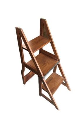 TAHTACI Ahşap Merdiven Sandalye 2