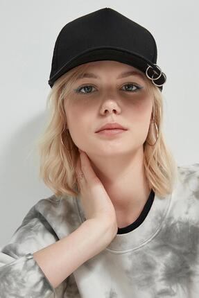 Y-London 13263 Siyah Piercingli Şapka 2