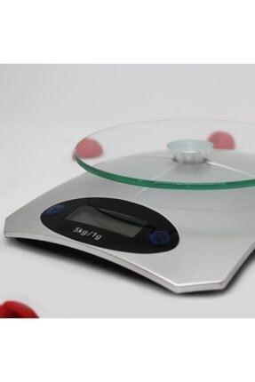Techmaster 5 Kg Dijital Cam Platform Mutfak Terazisi Tartısı 1 Gr Hassasiyet 1