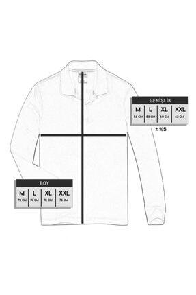 Color Colucci Erkek Gri Düğmeli Kalın Polo Yaka Eteği Lastikli Selanik Örgü Rahat Ve Geniş Kalıp Sweatshirt 4