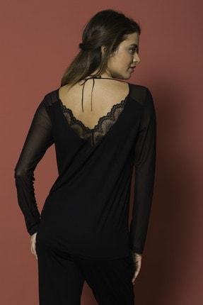 MONAMİSE Kadın 18154 Pijama Tk. Siyah 1