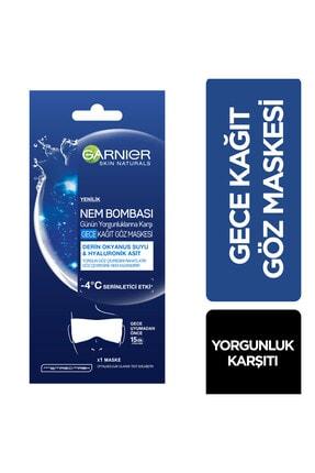 Garnier Nem Bombası Yorgunluklara Karşı Gece Kağıt Göz Maskesi 0