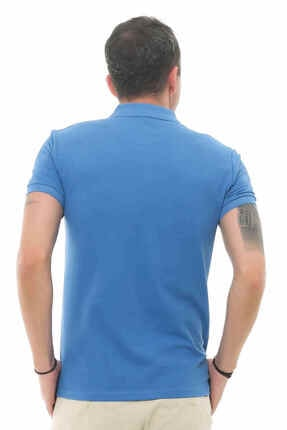 Cazador Caz 4613 Erkek Mavi Polo T-shırt 2