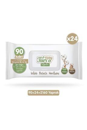 Baby Turco Doğadan Islak Bebek Havlusu 24x90 Yaprak 1