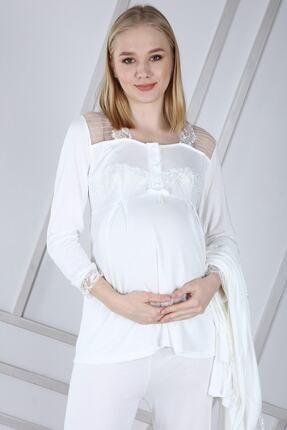 Duchesse Lohusa Sabahlıklı Pijama Takımı 1002 0