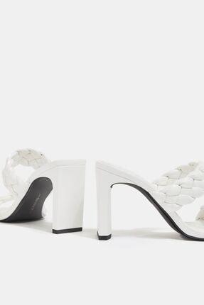 Bershka Örgü Bantlı Topuklu Sandalet 3