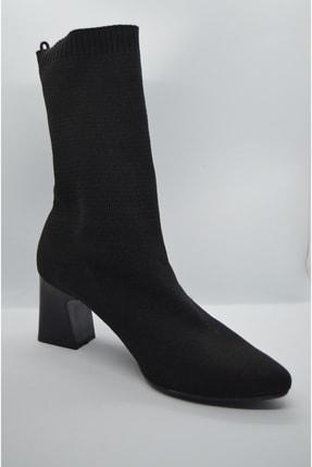 GARDA Kadın Siyah Topuklu Çorap Model Bilekte 3