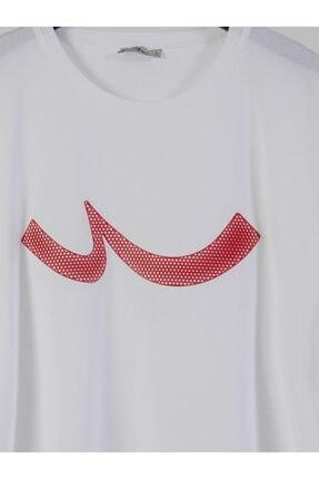Ltb Erkek  Beyaz  Baskılı  Kısa Kol Bisiklet Yaka T-Shirt 012208415960890000 2