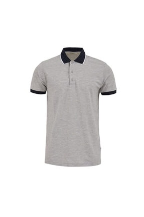 Ltb Erkek  Gri Kısa Kol Polo Yaka T-Shirt 012218400760890000 0