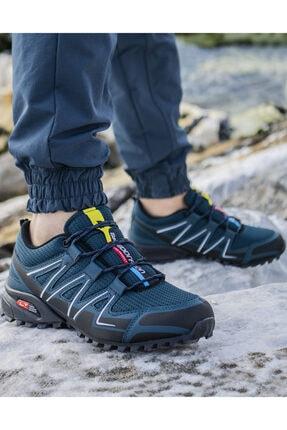 Ayakkabix Erkek Siyah Petrol Ferrani Günlük Spor Ayakkabı 2