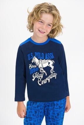 US Polo Assn U.s. Polo Assn Lisanslı Lacivert Erkek Çocuk Pijama Takımı 1