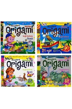 Karton Bardak Hikayelerle Origami Kağıt Katlama Sanatı 4 Lü Set 0