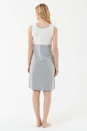 US Polo Assn Kadın Gri Melanj Elbise 2
