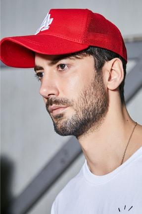 Sateen Men Erkek Kırmızı Nakışlı Şapka 1