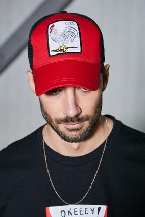Sateen Men Erkek Kırmızı Nakışlı Şapka 0