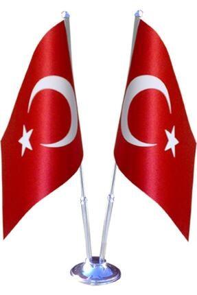 SÜPERKUTUMATBAA Çiftli Türk Masa Bayrağı 0