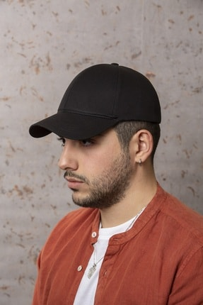 ÜN ŞAPKA Siyah Şapka - Ayarlanabilir Kep 0