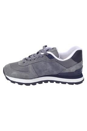 Hammer Jack Kadın Gri Lacivert Peru Deri Sneaker  Ayakkabı 102 19250-g 3