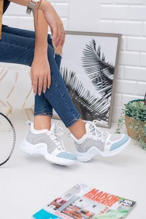 meyra'nın ayakkabıları Beyaz Mavi Spor Ayakkabı 2