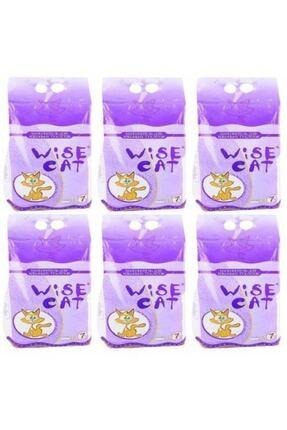 Wise Cat Diatomit Iri Taneli Süper Emici Kedi Kumu 7 lt x 6 Adet 0