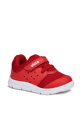 Vicco Mario Unisex Çocuk Kırmızı Spor Ayakkabı 0