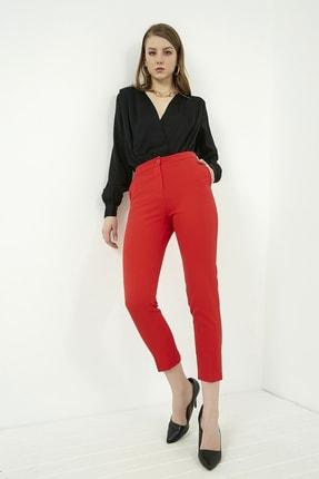 Vis a Vis Kadın Kırmızı Klasik Düz Pantolon 2