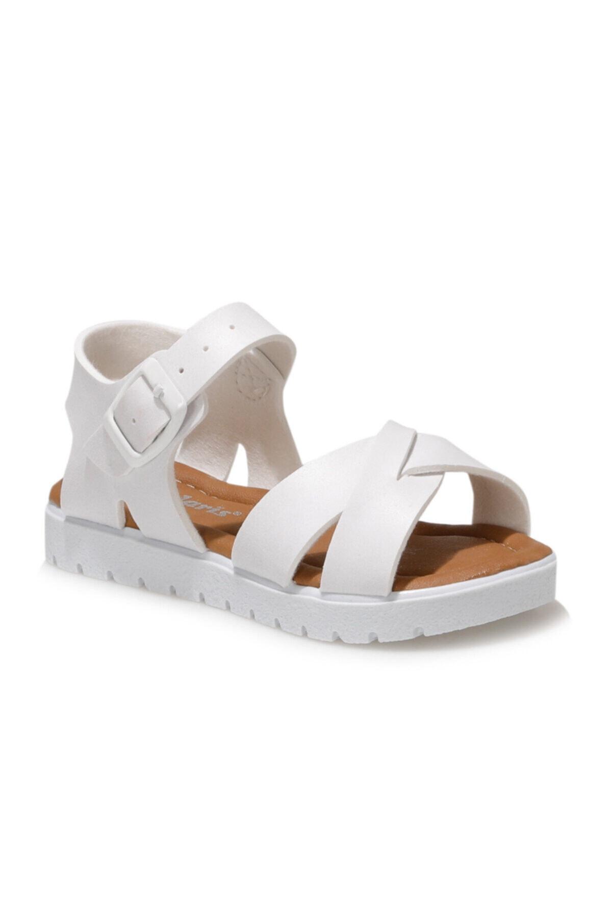 508159.B1FX Beyaz Kız Çocuk Sandalet 101010664