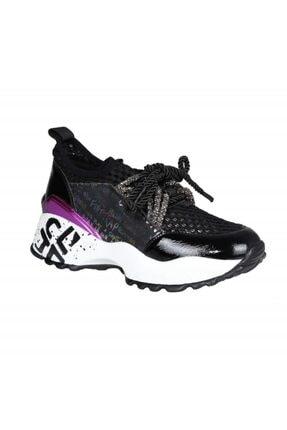 FOTİN Guja Kadın Siyah Bağcıklı Sneaker Ayakkabı 3