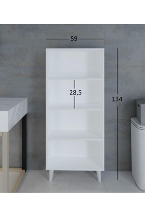intarz Artim Çok Amaçlı Mutfak Banyo Kitaplık Dolabı Yükseklik 137 Genişlik 59 Derinlik 22 2