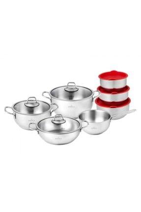 Karaca Pişir Sakla 13 Parça Çelik Set 153.03.08.0390 1