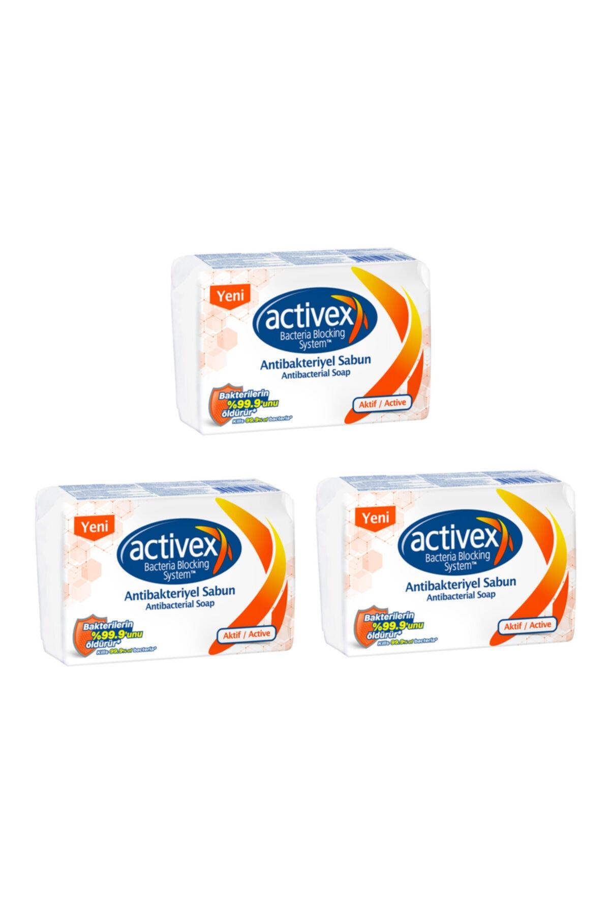 Antibakteriyel 12 Adet Katı Sabun Aktif 3x320 Gr