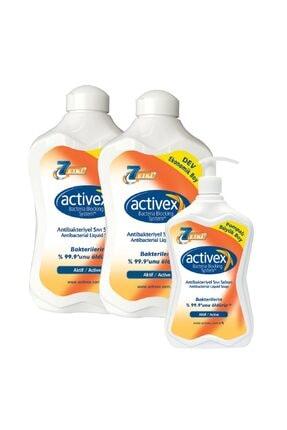 Activex Antibakteriyel Sıvı Sabun Aktif 1,5+1,5+700ml 0