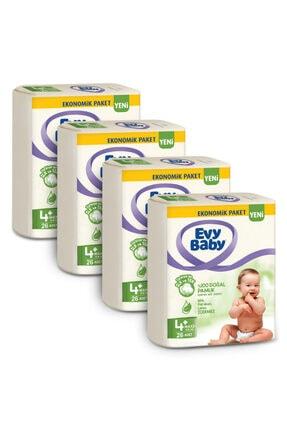 Evy Baby Bebek Bezi 4+ Beden Maxiplus 104 Adet Ve 4 Paket Islak Hvl 2