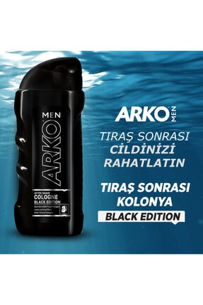 Arko Men Black Edition Tıraş Kolonyası 250ml 1