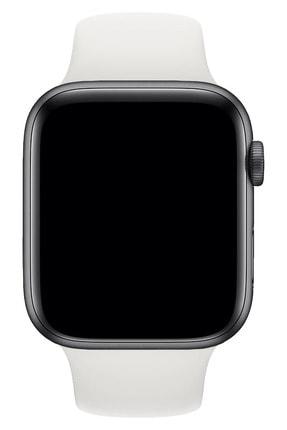Fibaks Apple Watch 42mm A+ Yüksek Kalite Spor Klasik Silikon Kordon 1