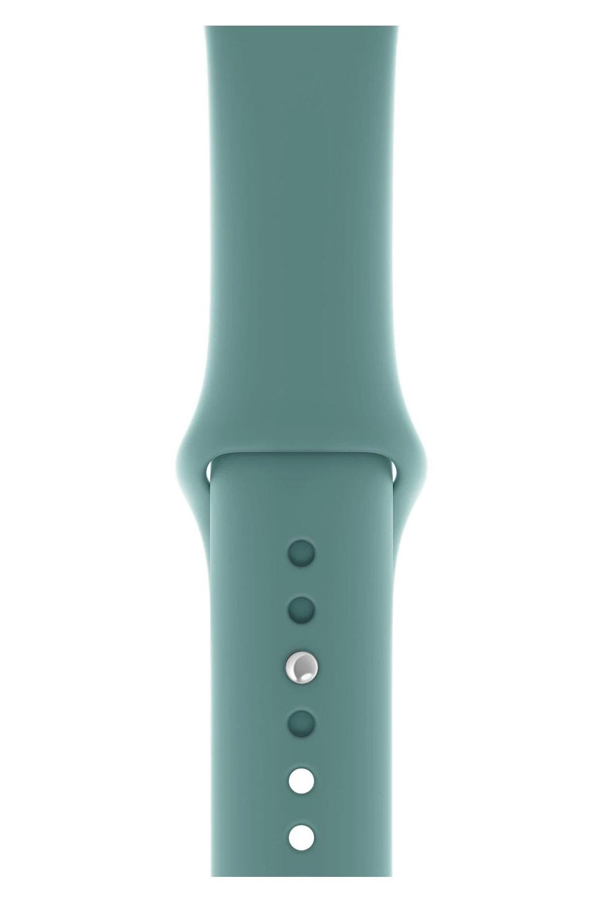 Apple Watch 44mm A+ Yüksek Kalite Spor Klasik Silikon Kordon