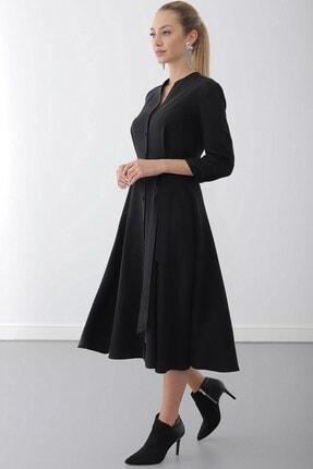 Journey Elbise-dik Yaka, Ön Tüm Düğme, Truvakar Kol Gömlek 1