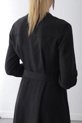 Journey Elbise-dik Yaka, Ön Tüm Düğme, Truvakar Kol Gömlek 4